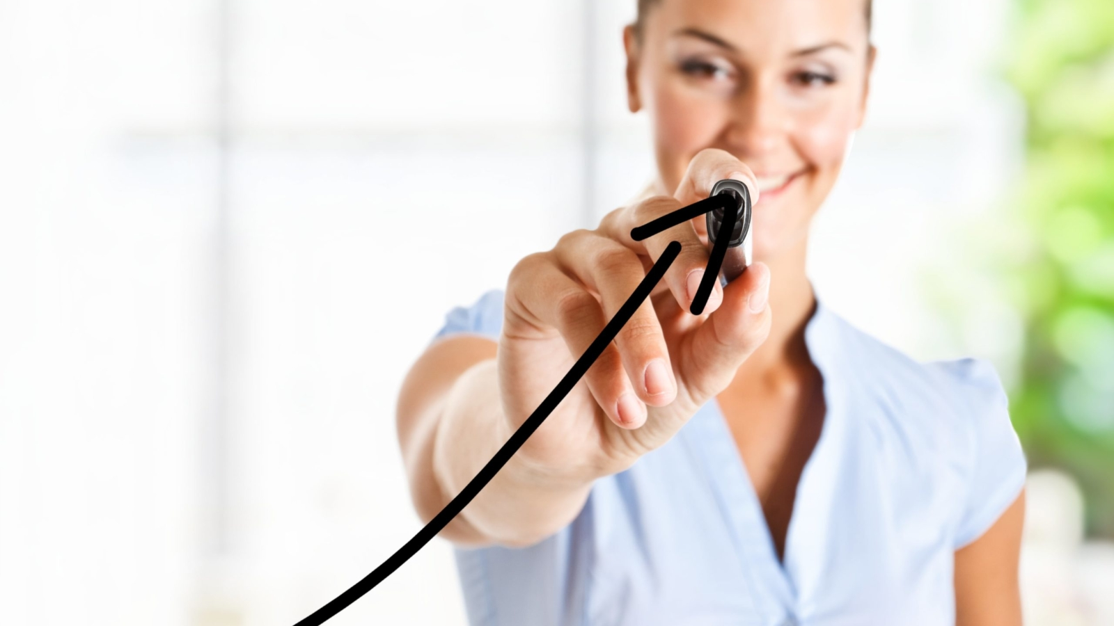 woman with growth curve