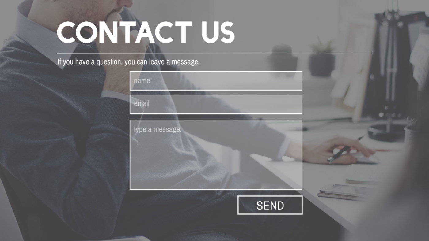 Contact form on your website
